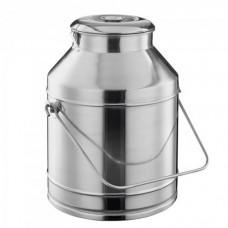 Bidon inox transport lapte, miere, hrana 20 l