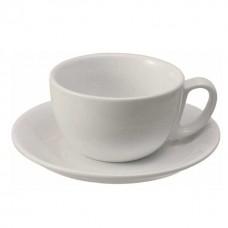 Ceasca si farfurie portelan caffe latte, 350 ml - Italia