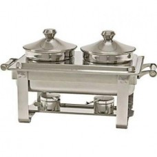 Chafing dish cu 2 cuve pentru supe si ciorbe