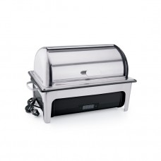 Chafing dish electric cu capac rolltop cu termostat de comandă cu container GN 1/1 - 65 mm