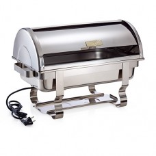 Chafing dish electric cu roll top GN 1/1-65 mm