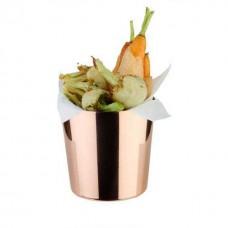 Cupa, cos inox servire cartofi prajiti 350 ml - Cupru