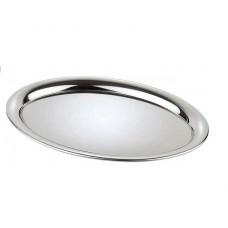 Tava ovală din inox lucios 26,5 x 19 cm