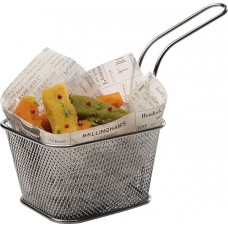 Cos dreptunghiular pentru servire cartofi prajiti